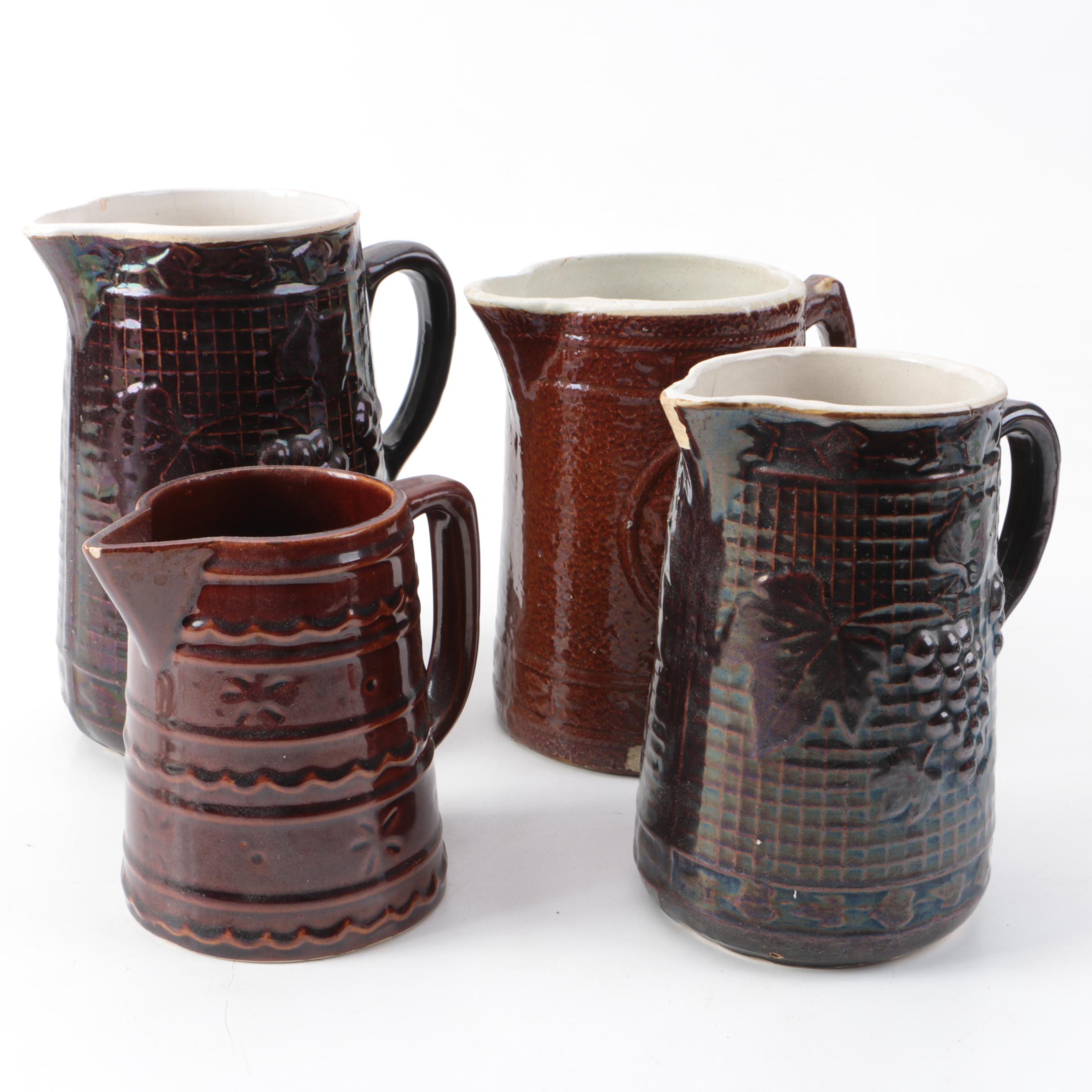 Handled Stoneware Mugs Including Marcrest Stoneware