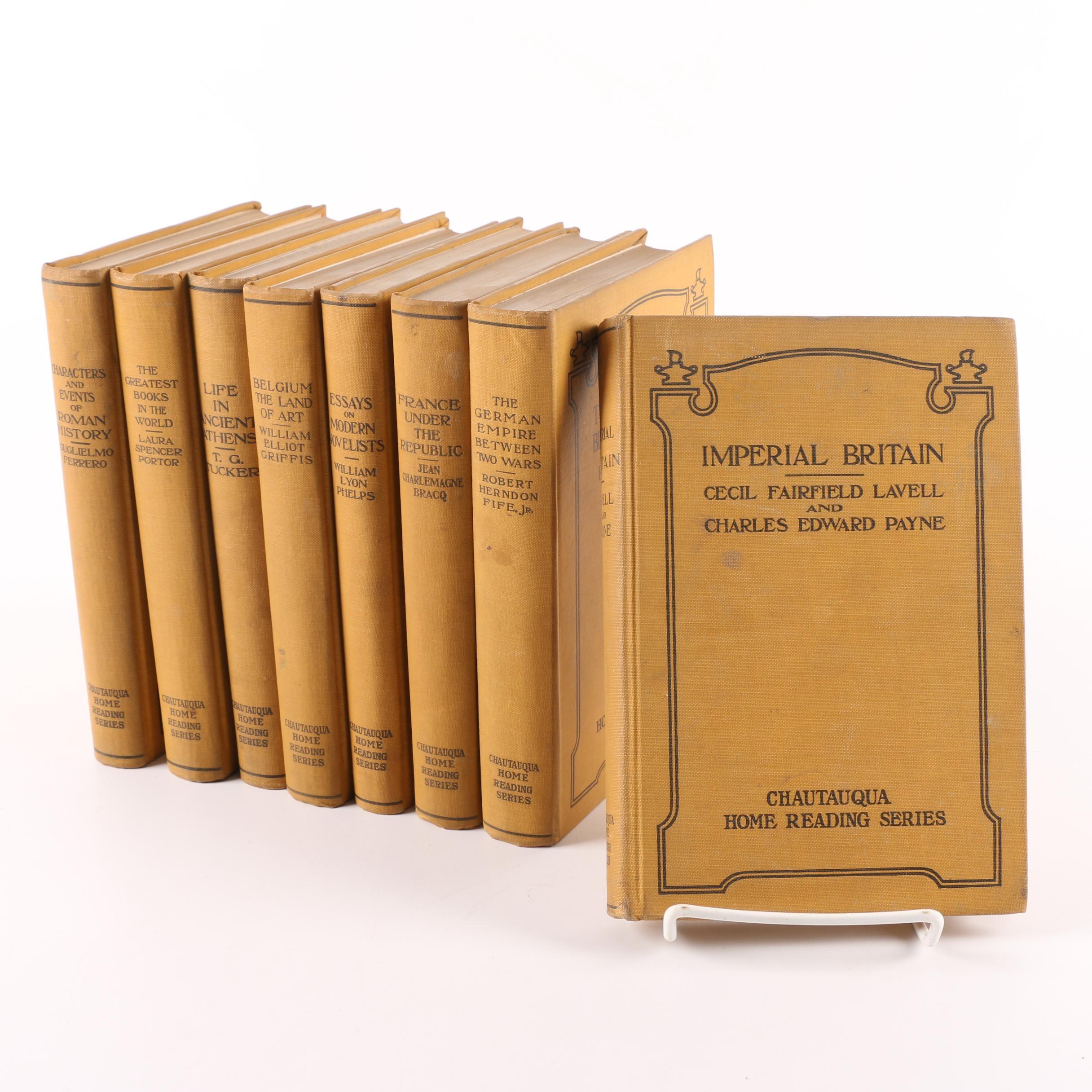 "1910s ""Chautauqua Home Reading Series"" Eight Volumes on History Topics"