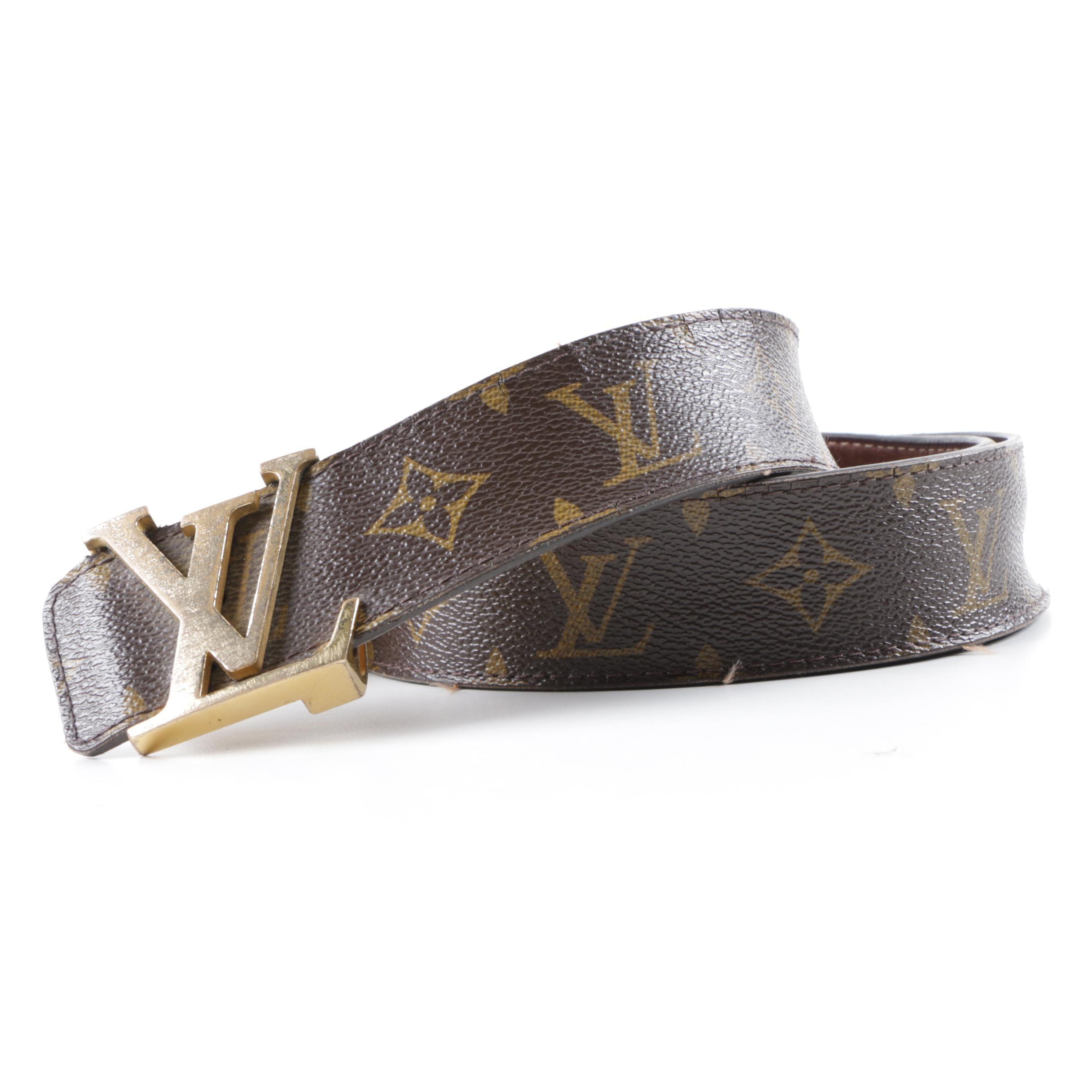 Louis Vuitton Monogram Canvas Belt with Buckle