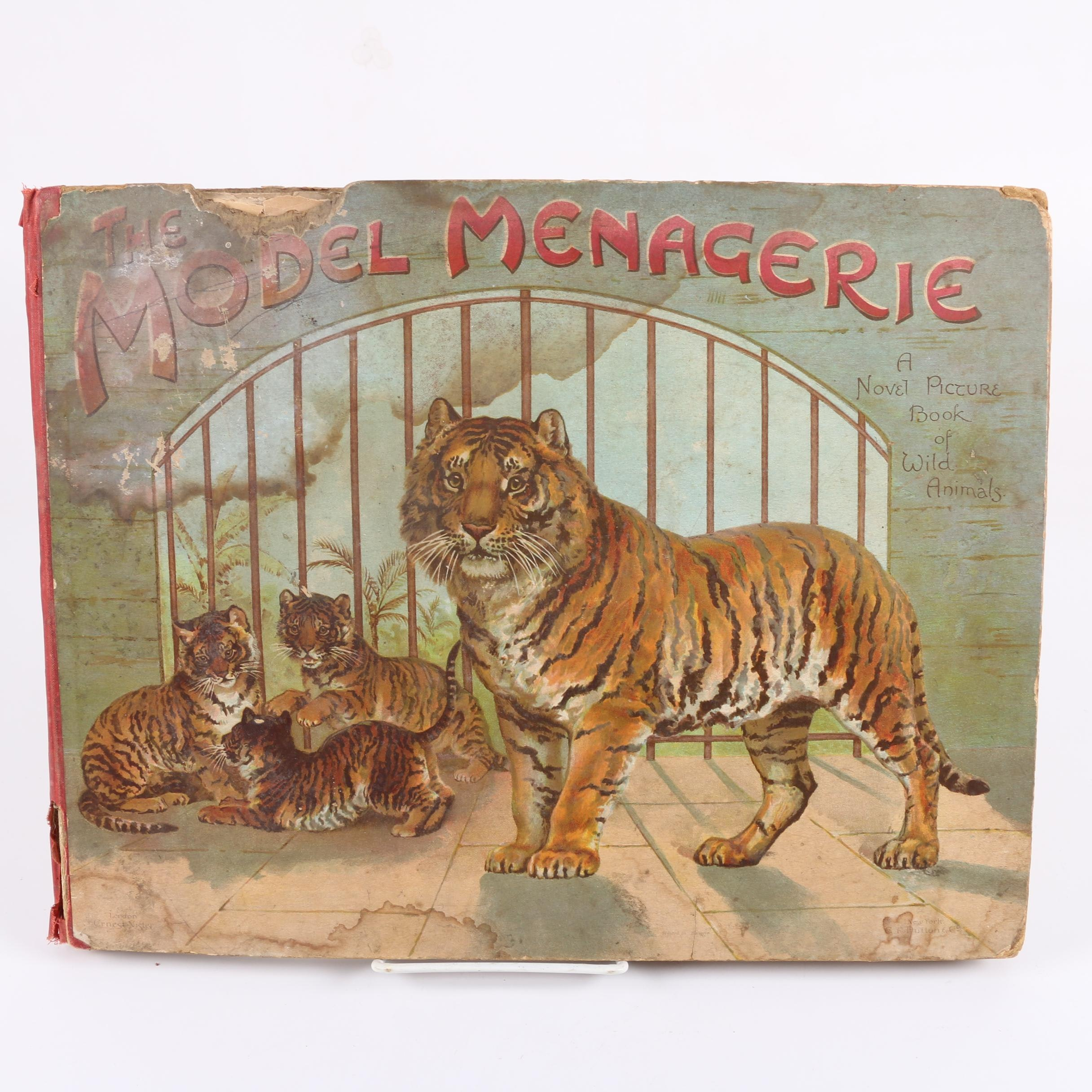 "1890s ""The Model Menagerie"" Pop-Up Book by L. L. Weedon and Evelyn Fletcher"