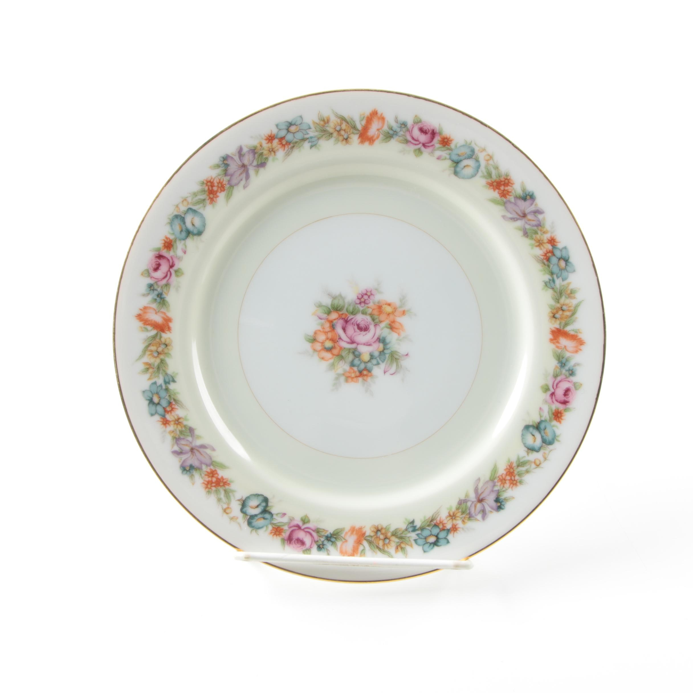 Occupied Japan Narumi China \ Flower Garden\  Porcelain Salad ...  sc 1 st  EBTH.com & Occupied Japan Narumi China \