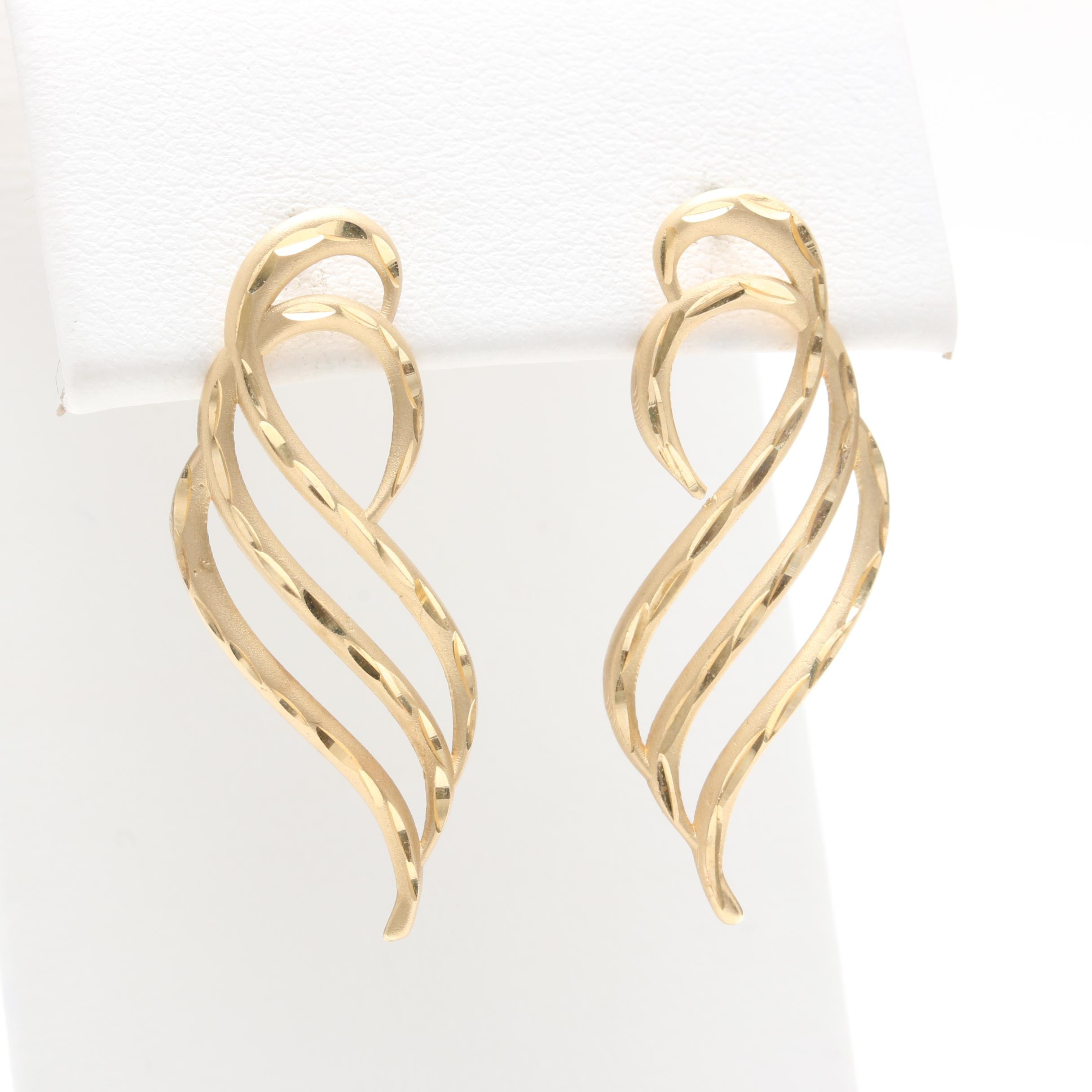 Michael Anthony 14K Yellow Gold Earrings