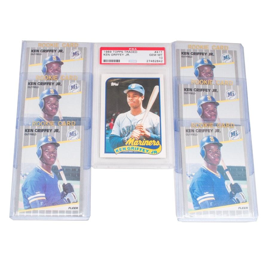 4e21154f19 1989 Ken Griffey Jr. PSA 10 and Other Rookies : EBTH