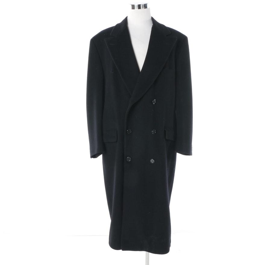 d2d6476f145 Men s Neiman Marcus Black Cashmere Blend Double-Breasted Overcoat   EBTH