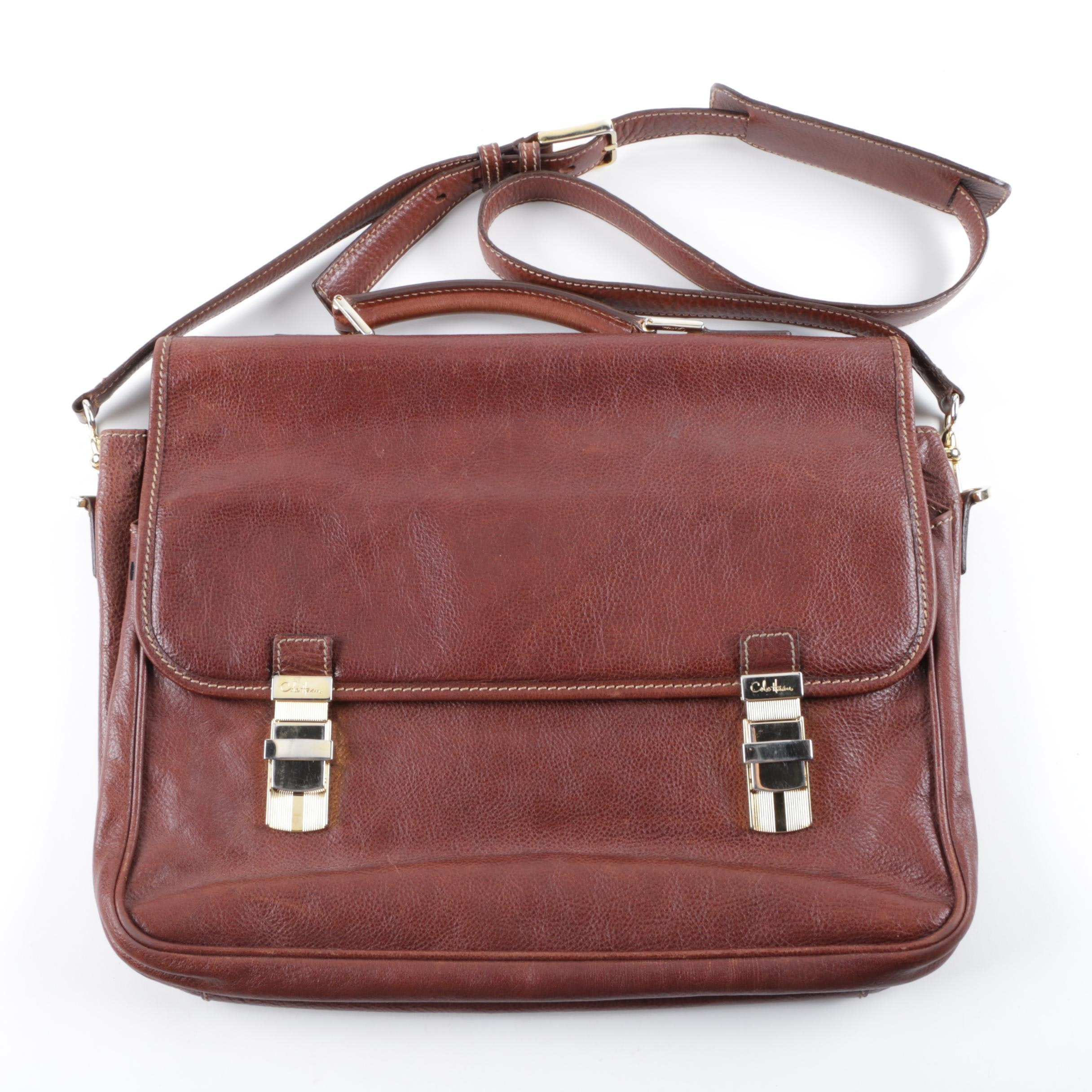 Cole Haan Collection Brown Leather Briefcase