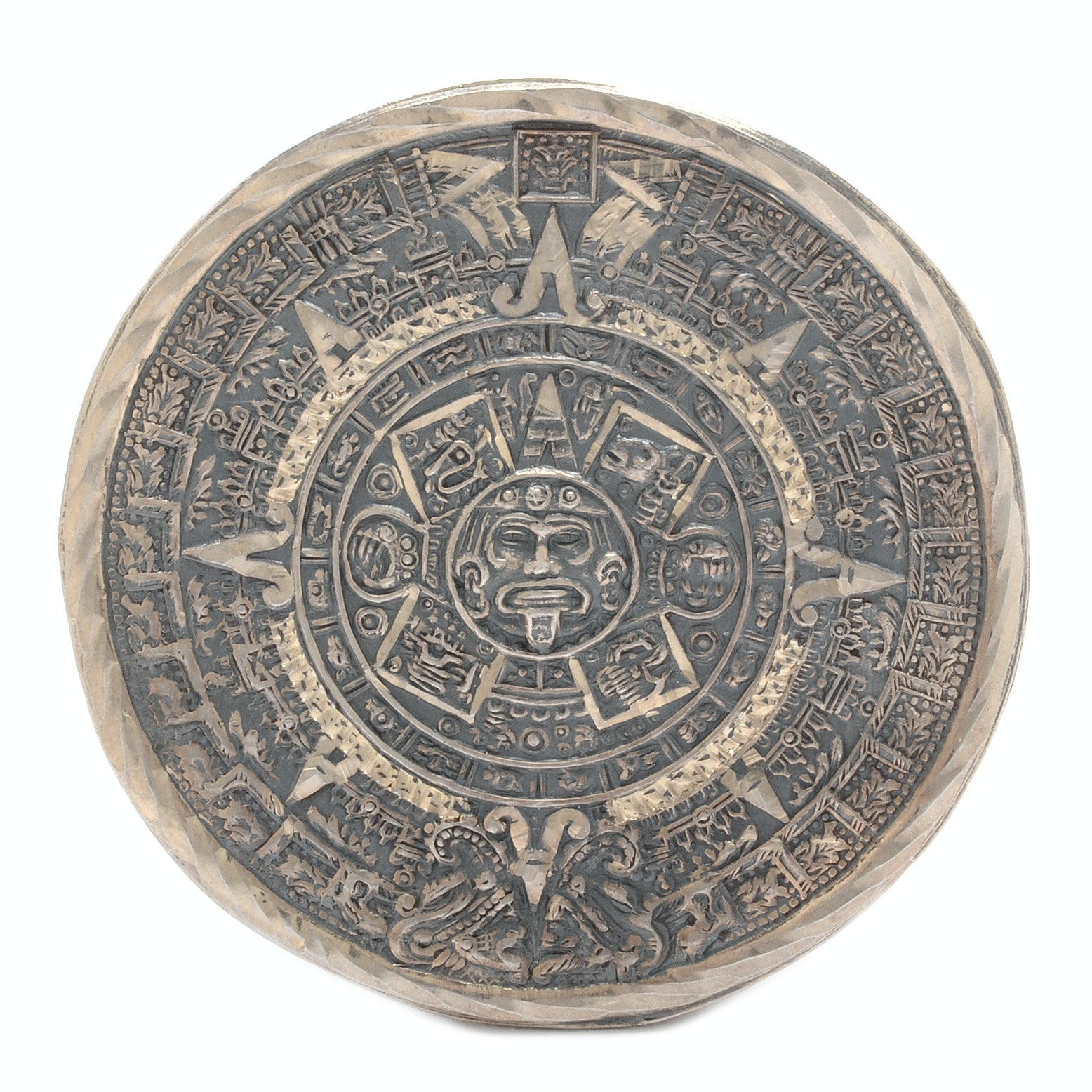 Mexican Sterling Silver Mayan Converter Brooch