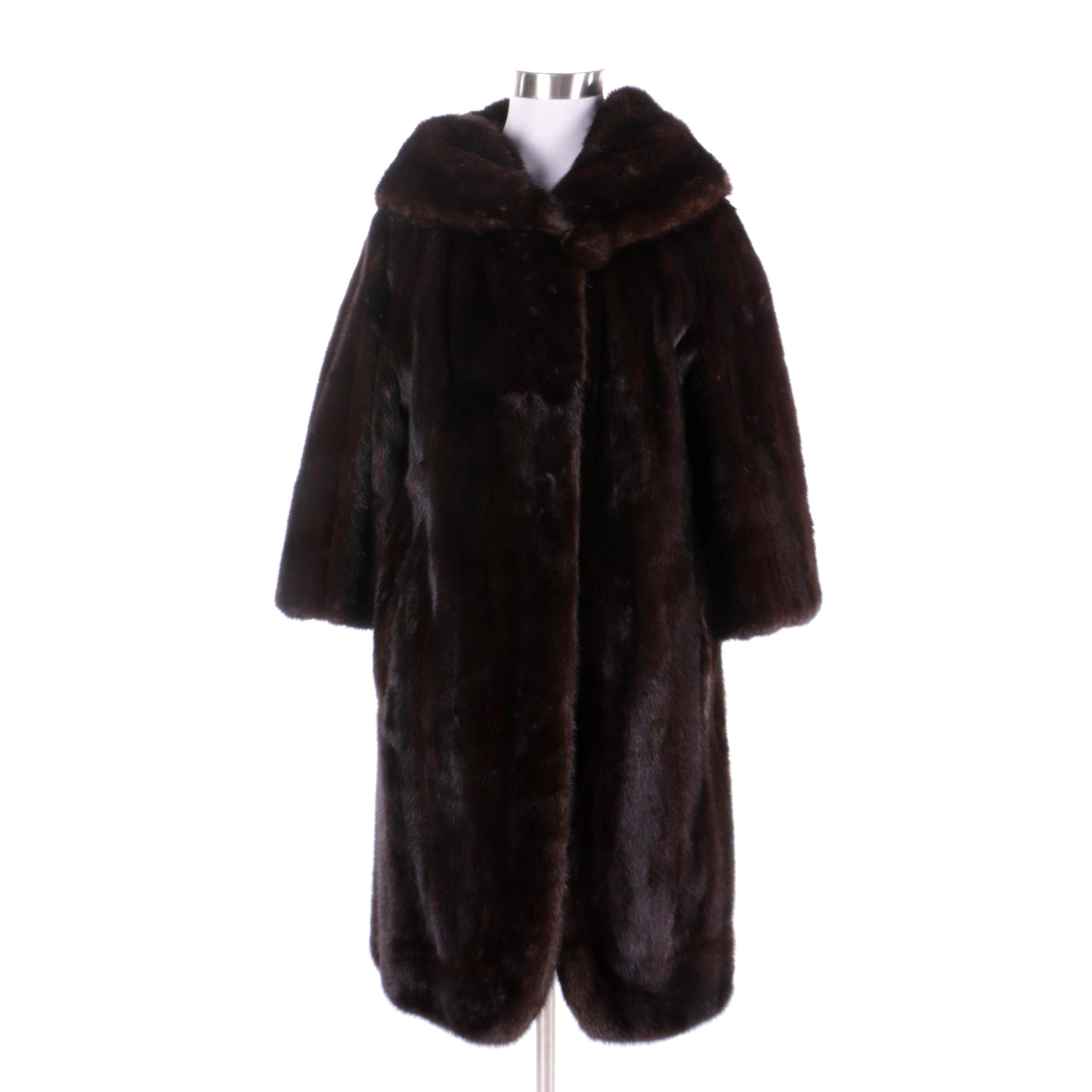Vintage Gartenhaus Furs of Bethesda Dark Mahogany Mink Fur Coat