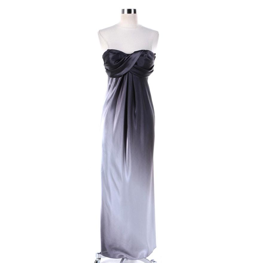 Xscape by Joanne Chen Purple Ombré Strapless Evening Gown : EBTH