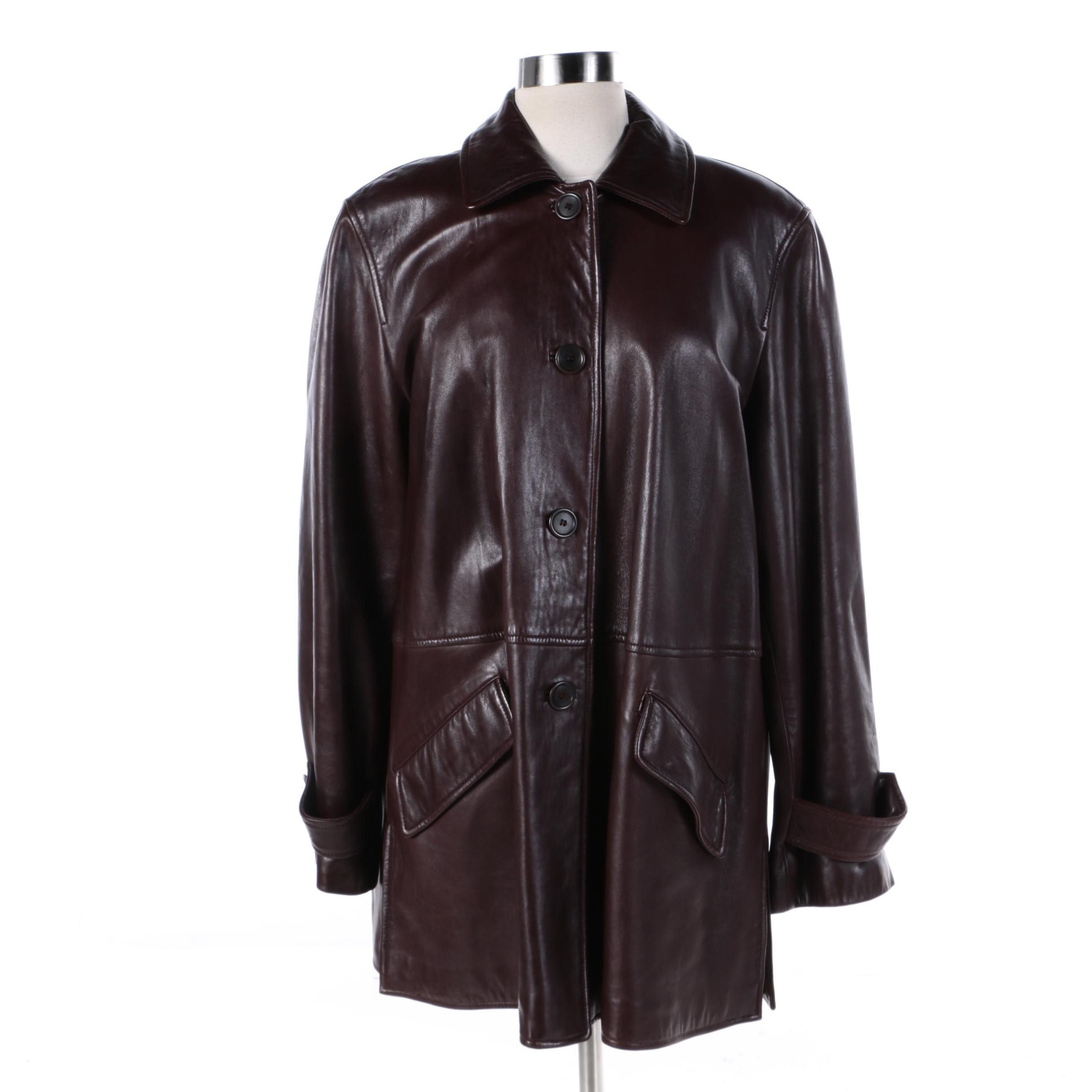 Women's XOE New York Brown Leather Jacket