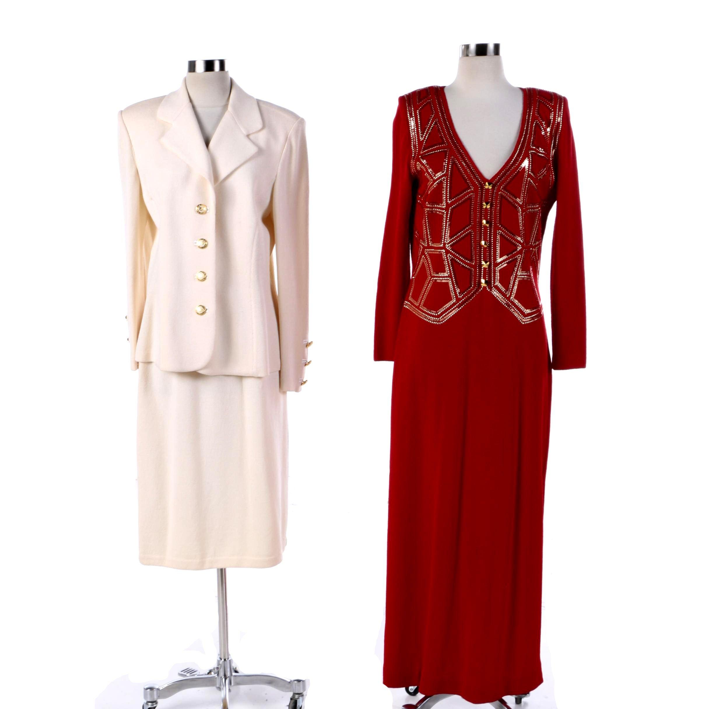 St. John Evening Dress and St. John Basics Skirt Suit