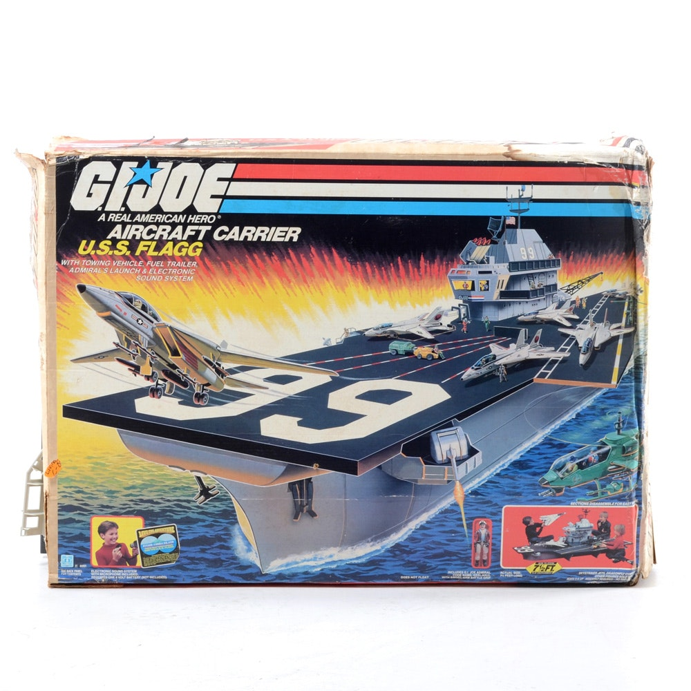 1985 G.I. Joe U.S.S. Flagg Aircraft Carrier Toy Set