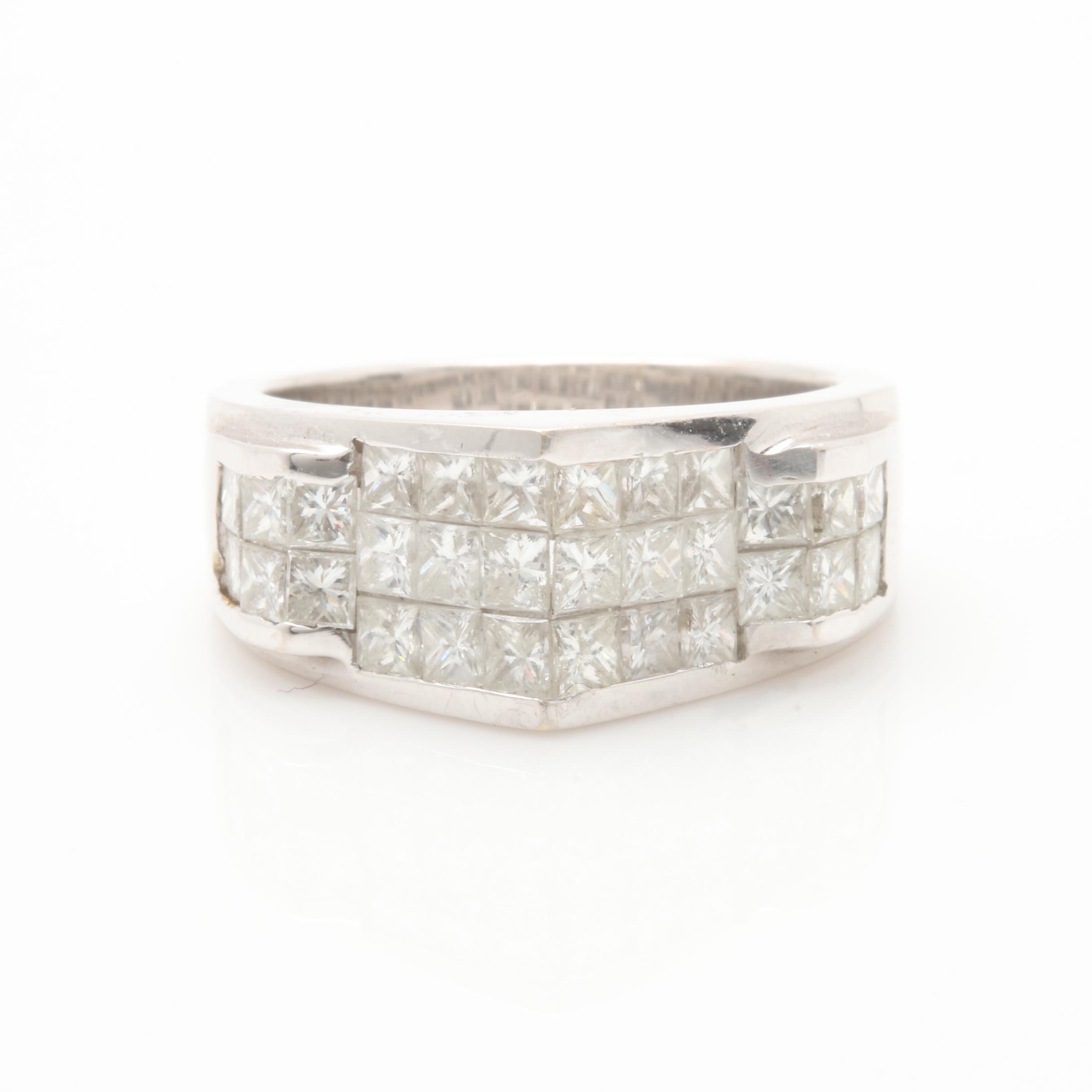 18K White Gold 2.10 CTW Diamond Ring