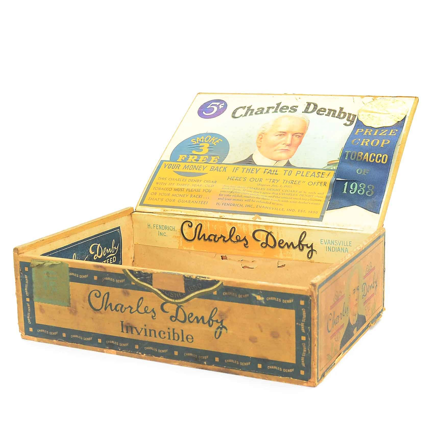 Vintage Charles Denby Cigar Box