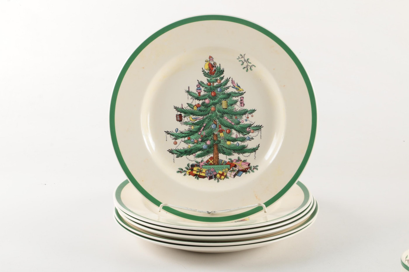 "Spode ""Christmas Tree"" Dinnerware And Serving Dishes"