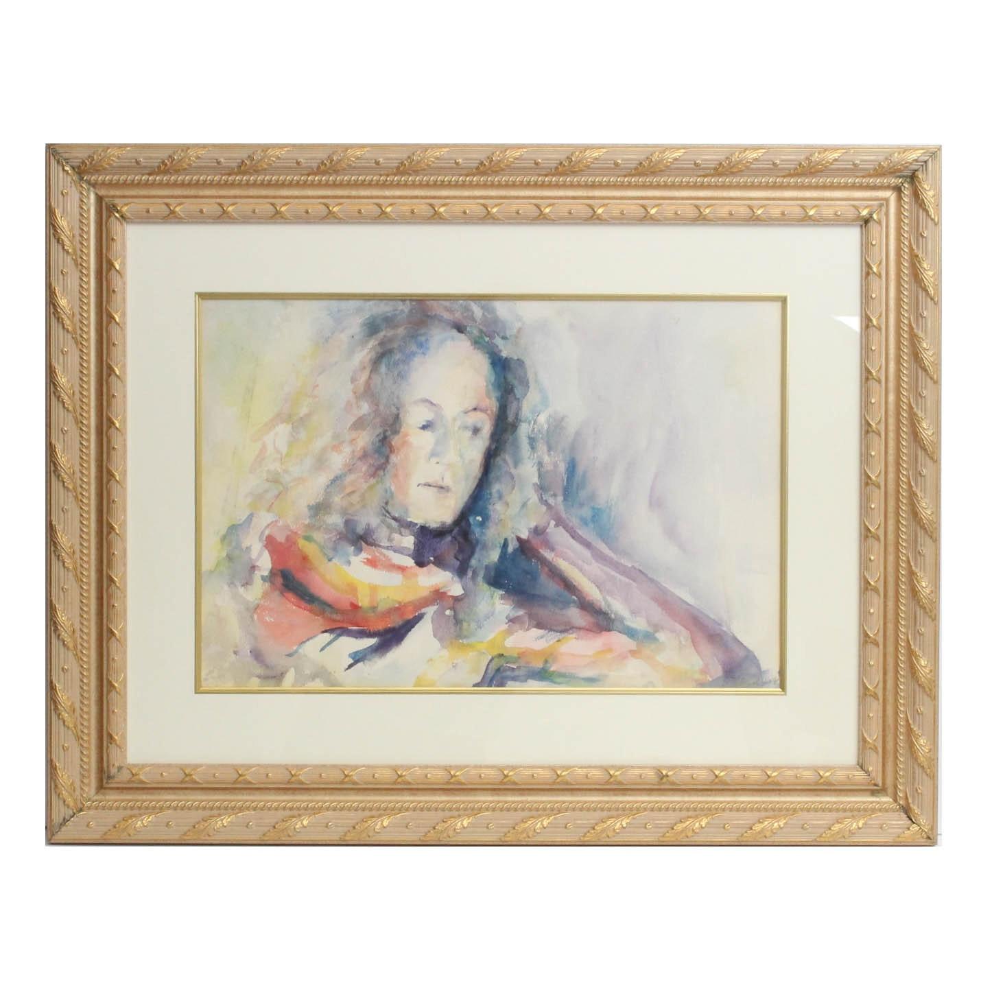 C. Shay Watercolor Portrait