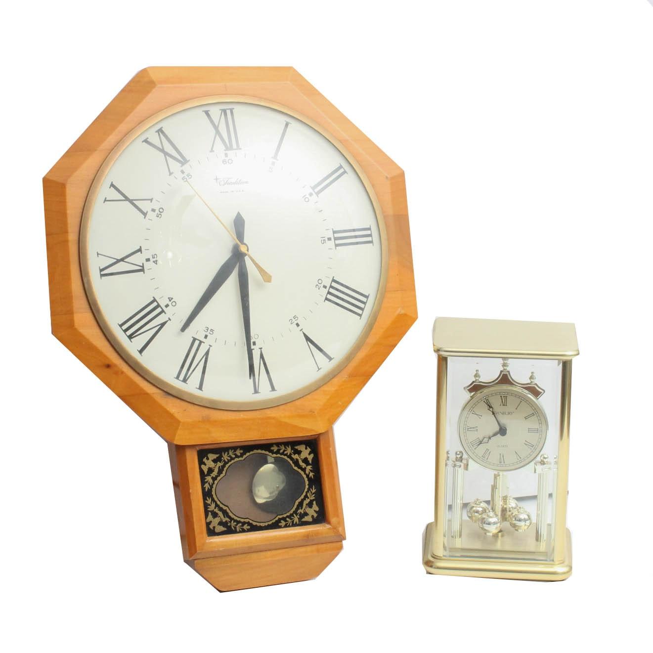 Tradition Wall Clock and Danbury Anniversary Clock