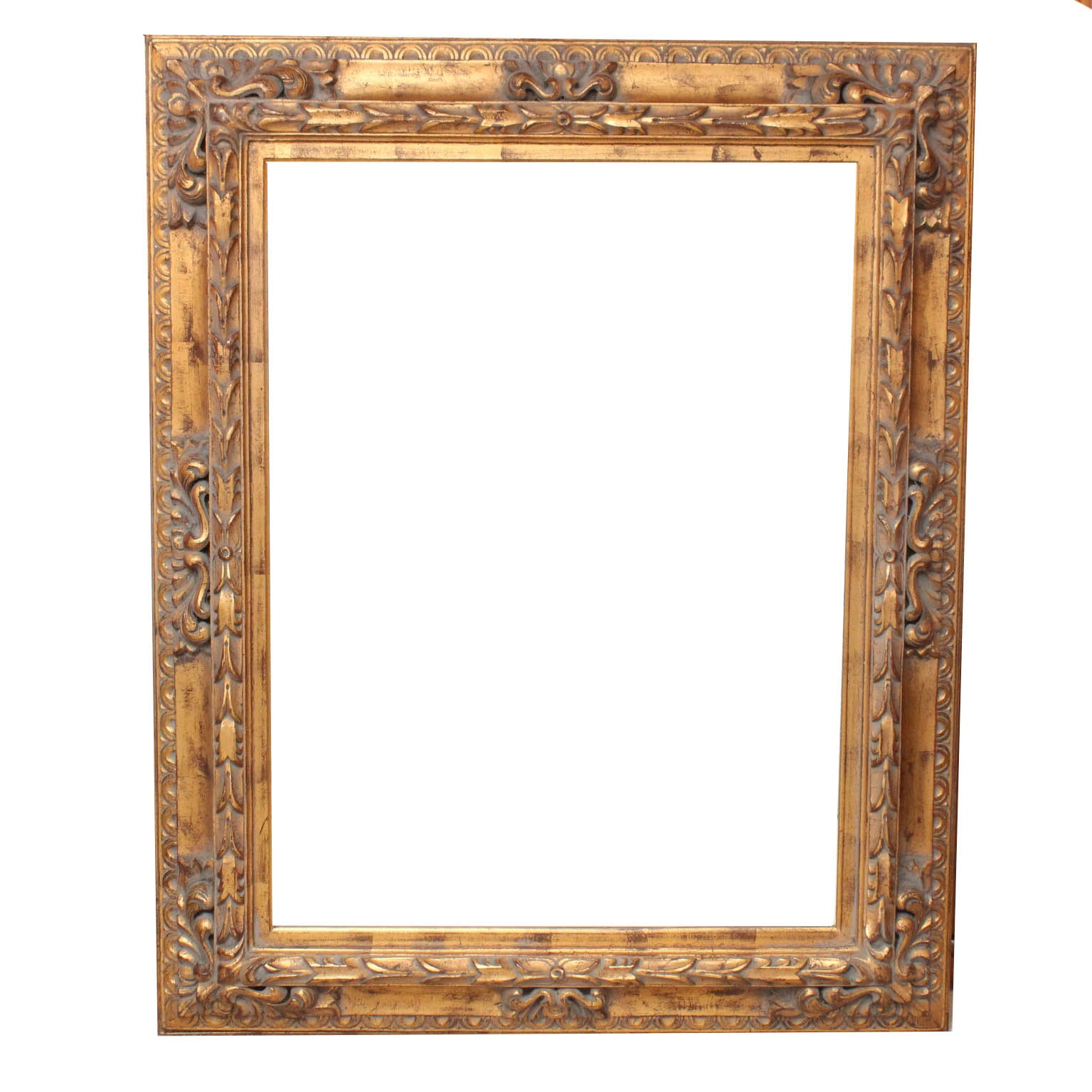 Large Victorian Style Gold Painted Mirror