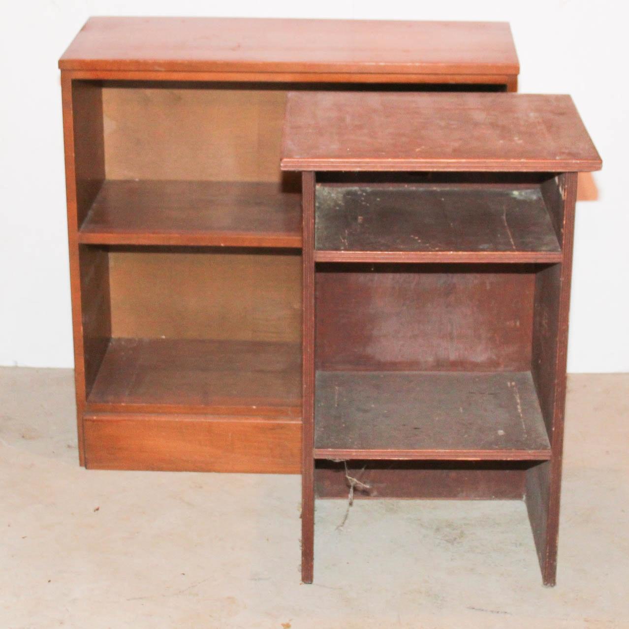 Vintage Solid Wood Bookshelves