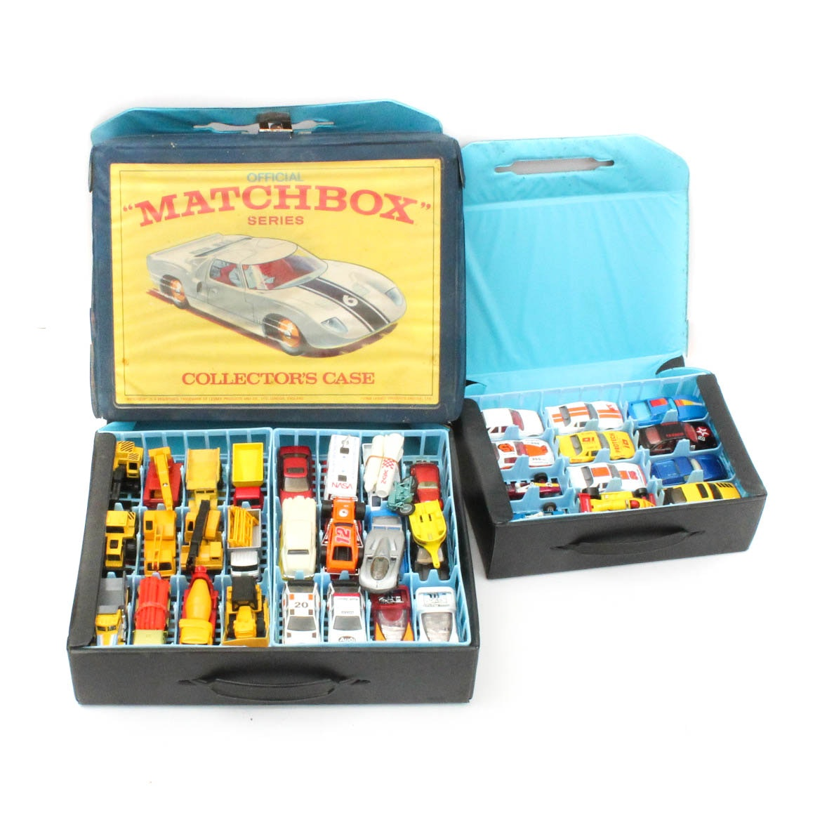 Vintage Matchbox Cars and Carrying Cases