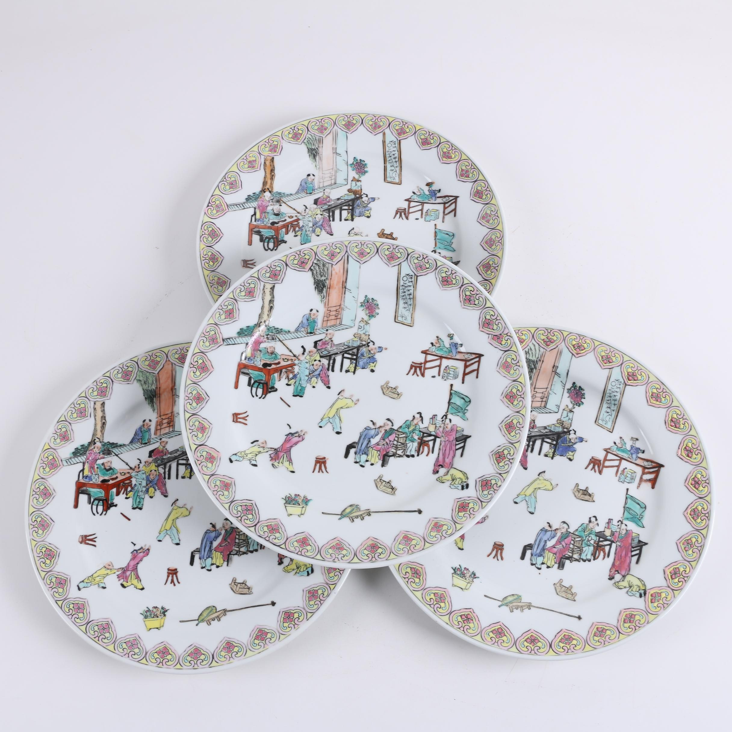 Hand Painted Chinese Porcelain Plates