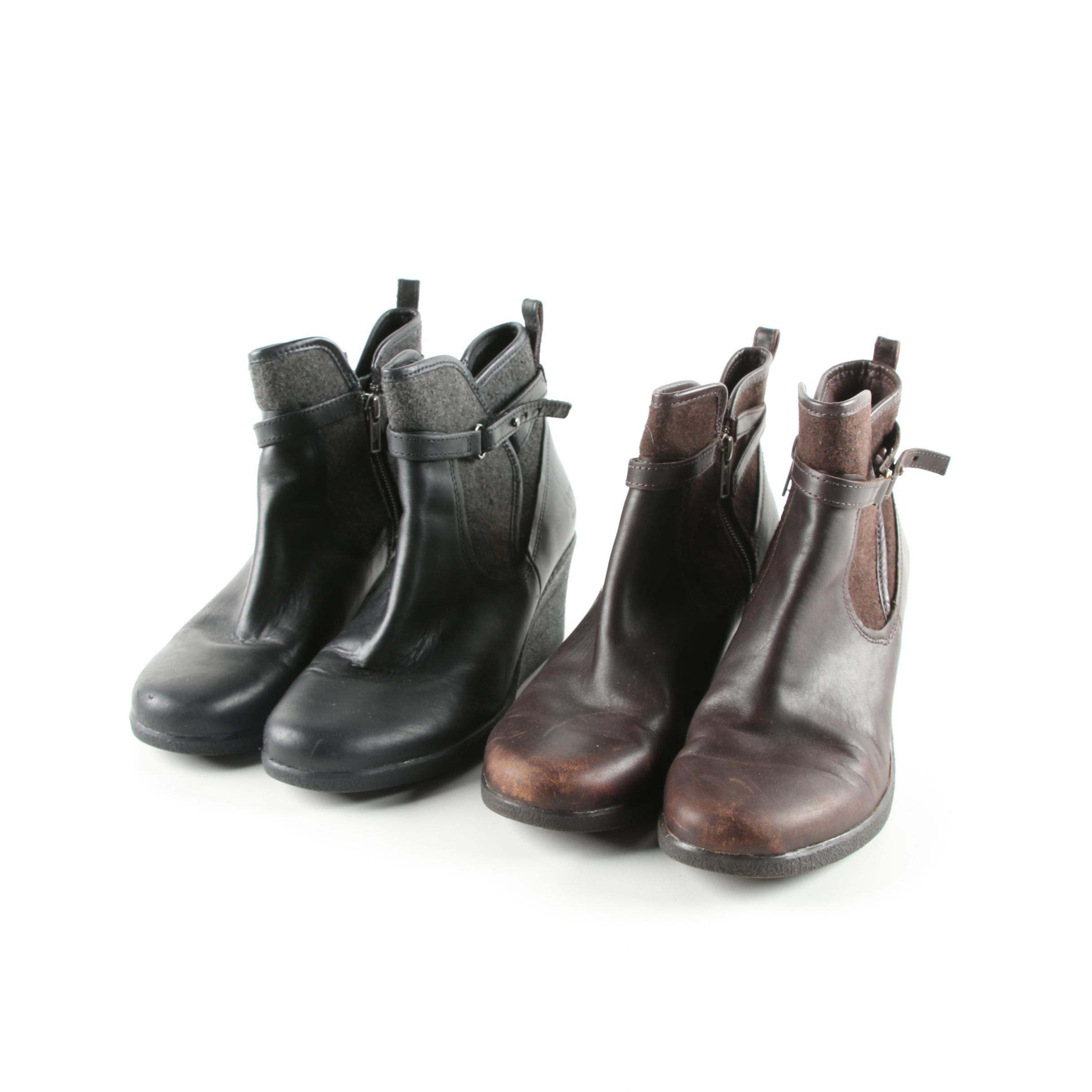 Women's UGG Emalie Leather Wedge Booties
