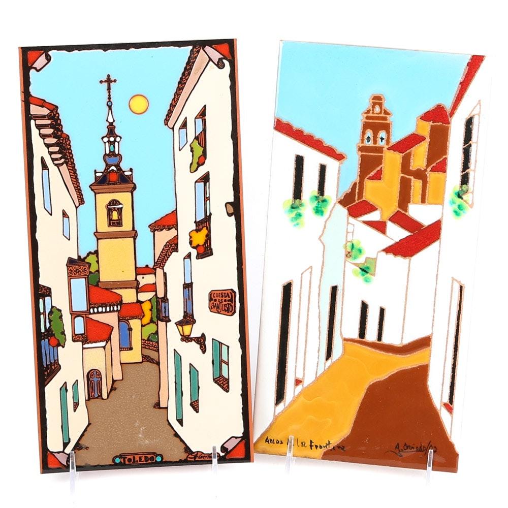 Spanish Terracotta Glazed Tiles