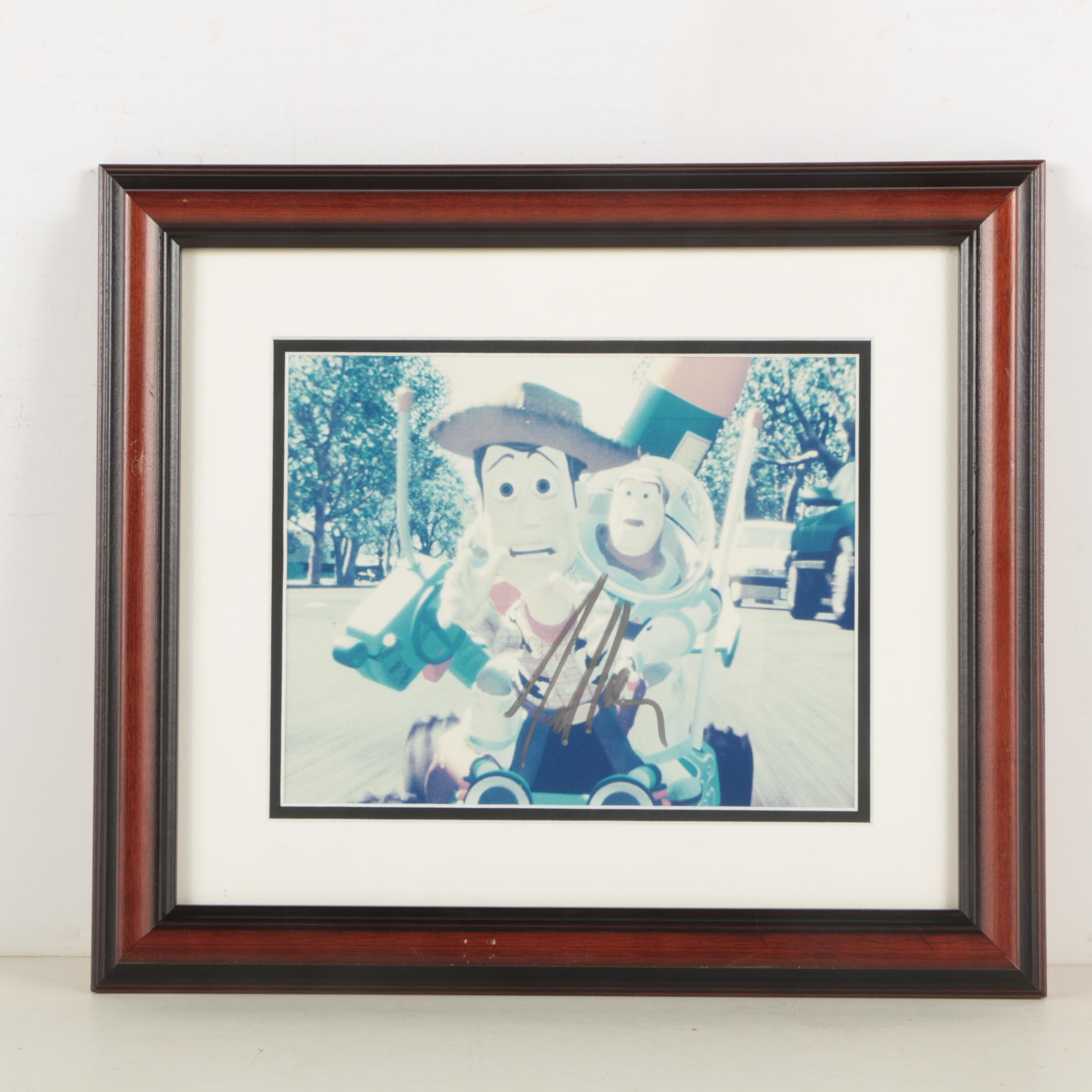 """Tim Allen Autographed Digital Print of Buzz Lightyear and Woody from """"Toy Story"""""""