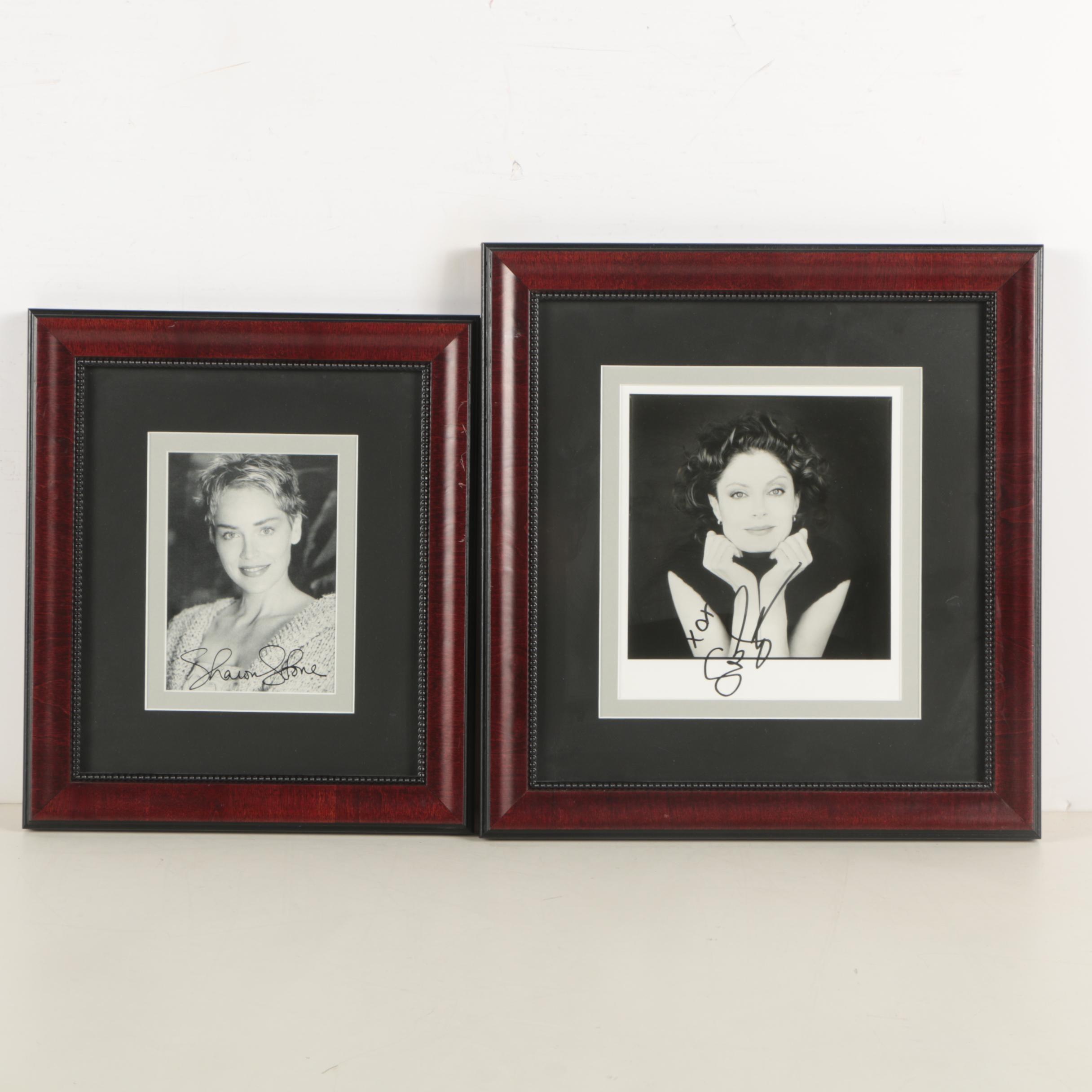 Sharon Stone and Susan Sarandon Autographed Prints