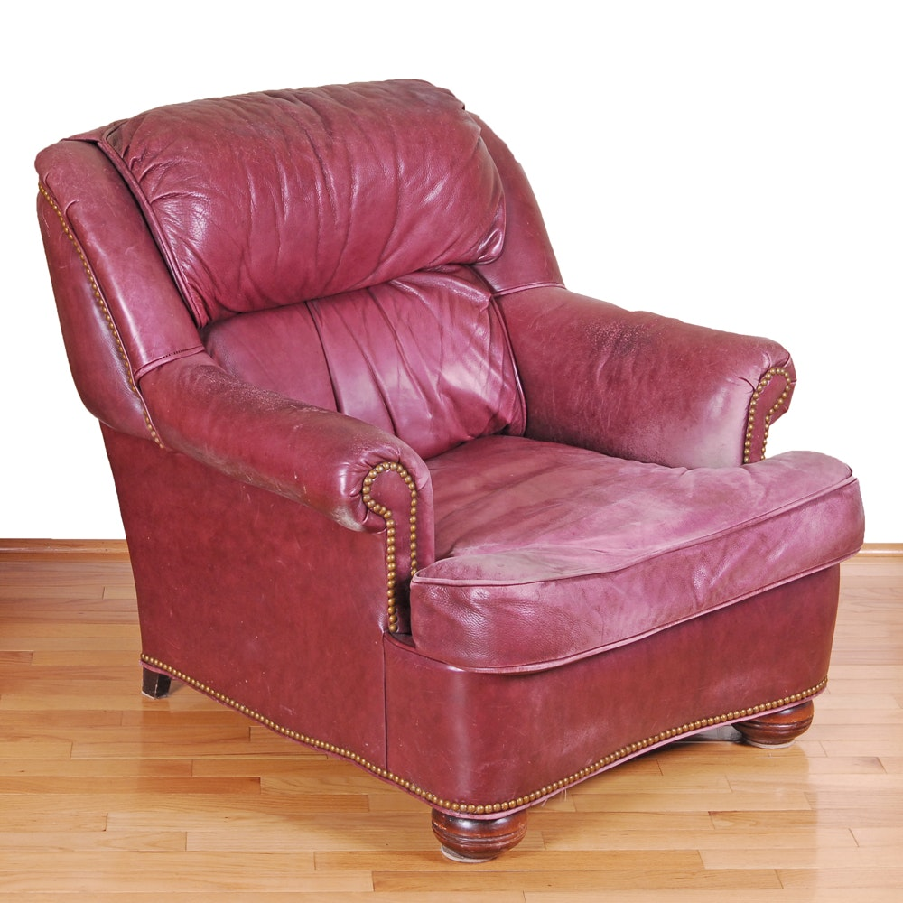 Leather Lounge Chair by McKinley Leather of Hickory