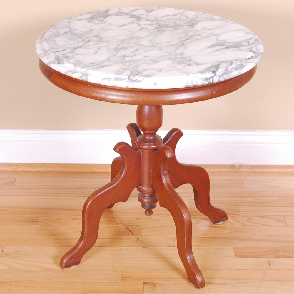 Marble Top Accent Table by Victorian