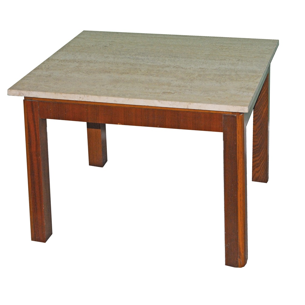 Lane Side Table with Custom Marble Top