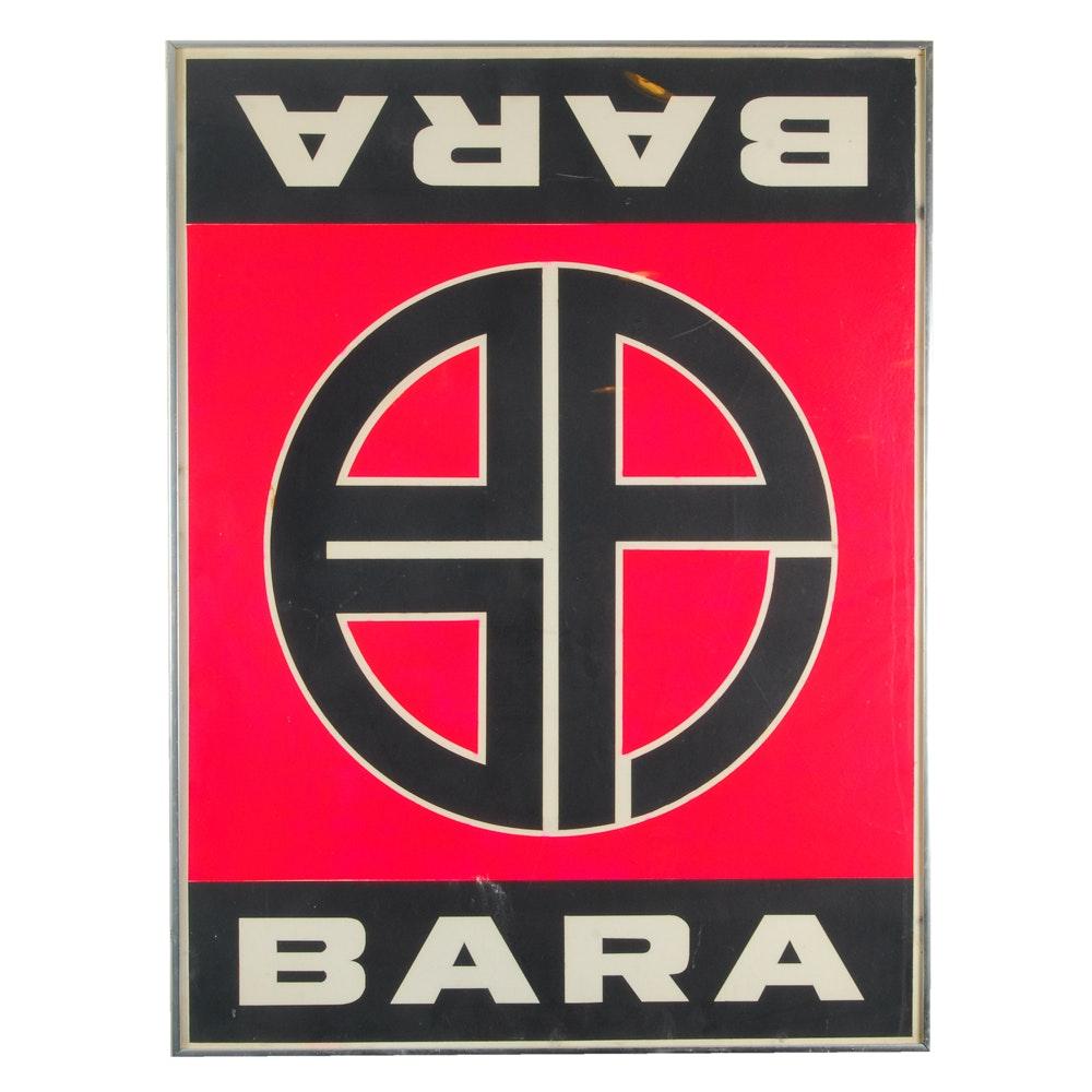BARA Poster in Frame