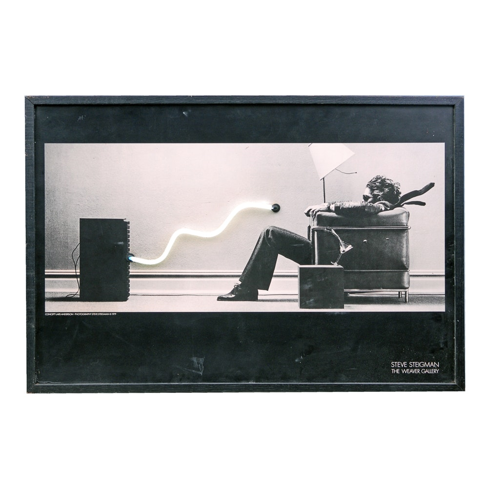 "Steve Steigman ""Blown Away"" Illuminated Neon Light Poster"