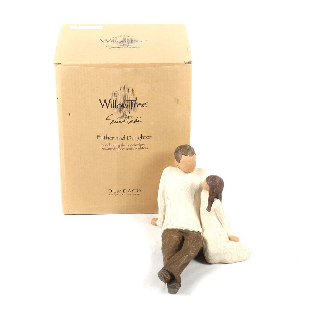 "Willow Tree ""Father and Daughter"" Figurine"
