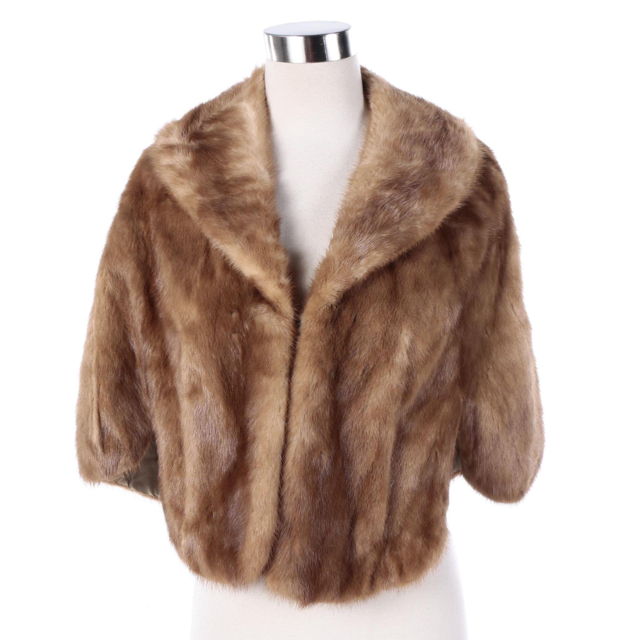 Women's Vintage Mink Fur Capelet