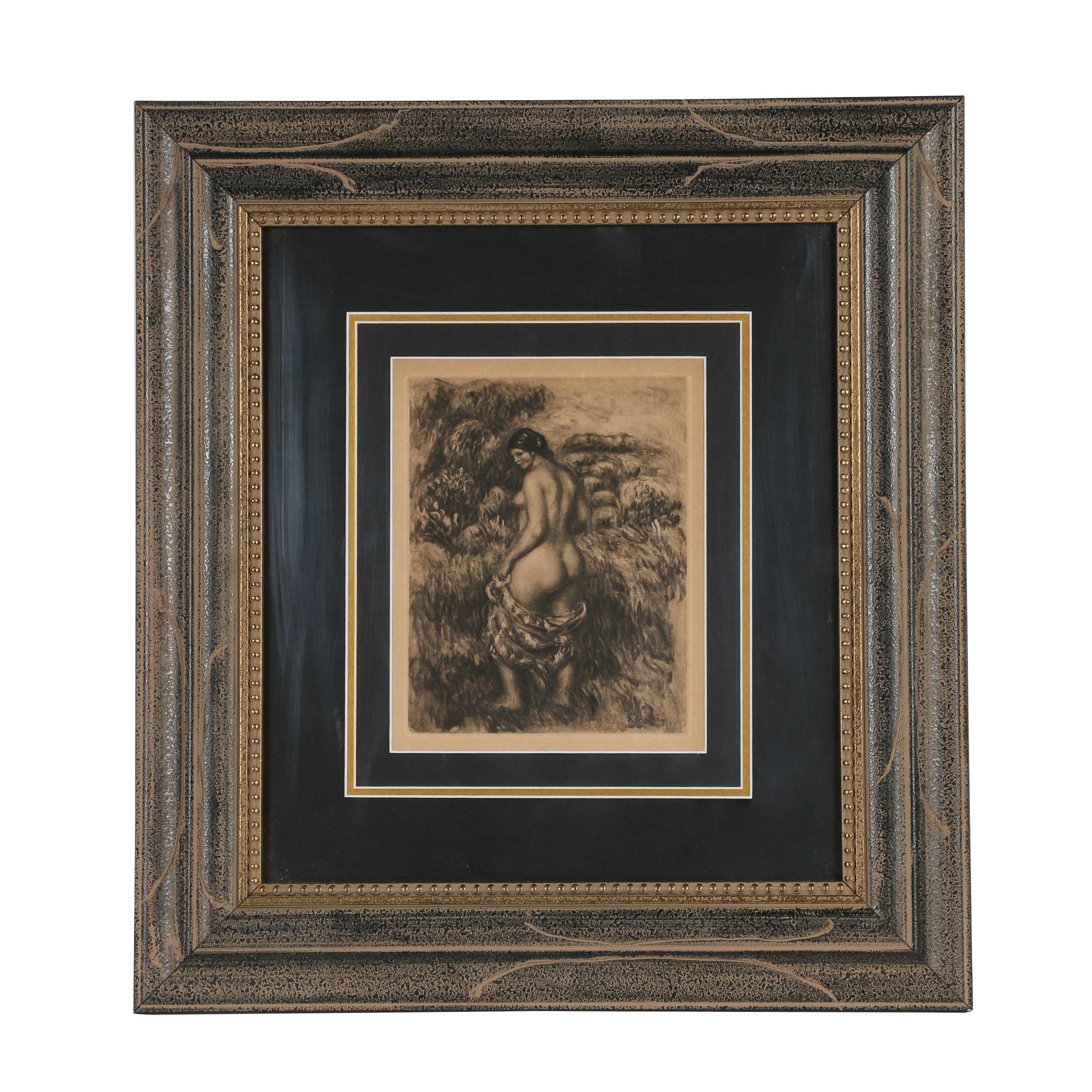 """Heliogravure After Pierre-Auguste Renoir """"Baigneuse Debout"""""""