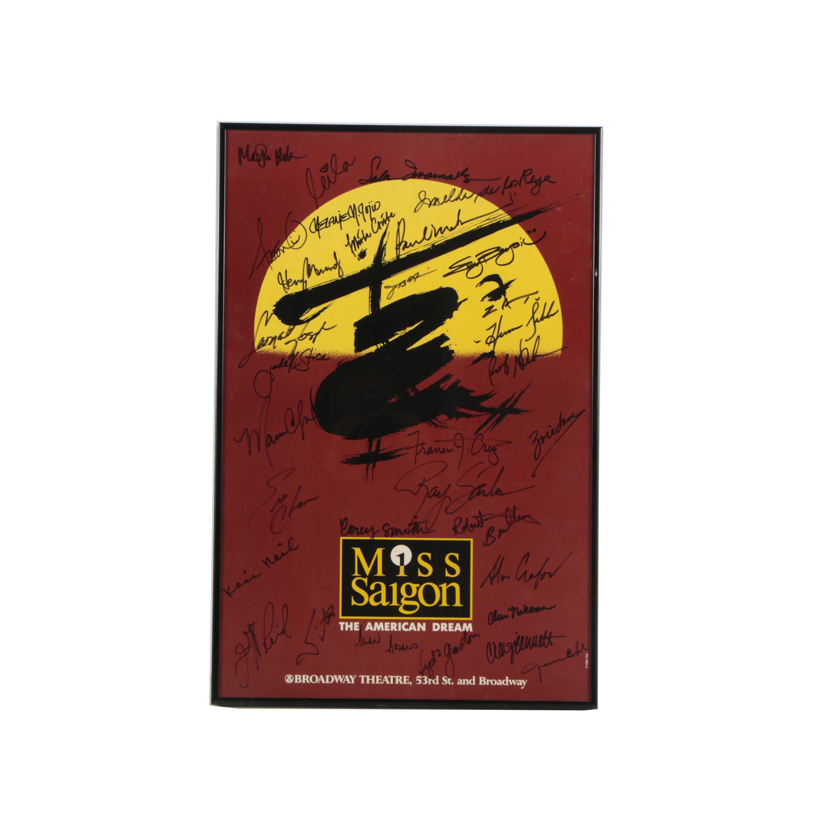 "1994 Autographed Broadway Poster for ""Miss Saigon"""
