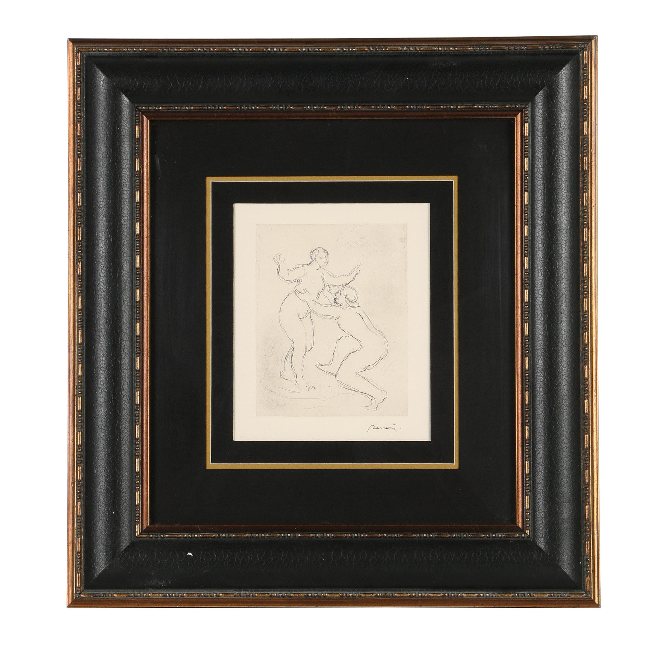 """Pierre-Auguste Renoir Etching """"Le Fleuve Scamandre"""""""