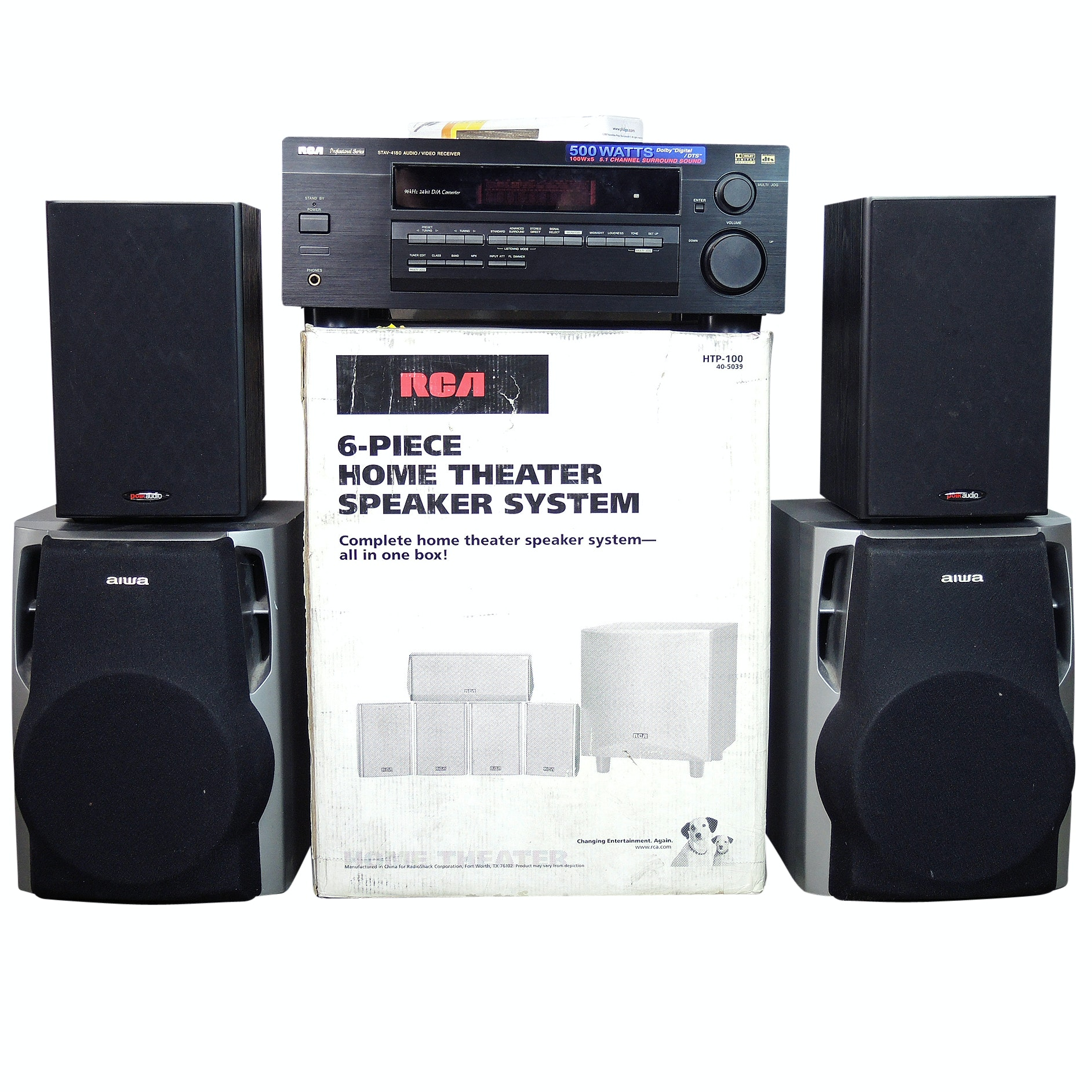 Home Theater Surround Sound Speaker System and Stereo Equipment