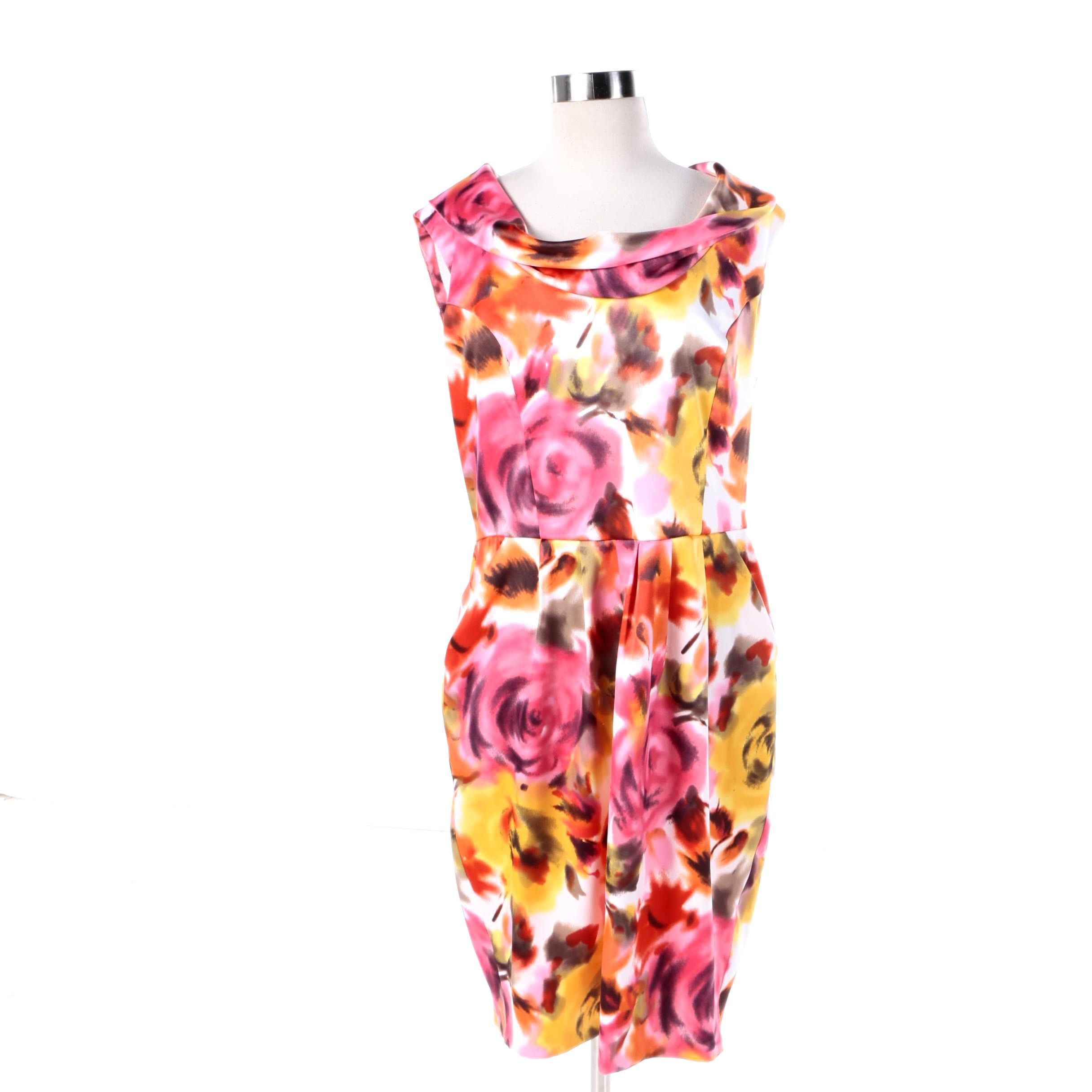 AGB Floral Print Sleeveless Dress