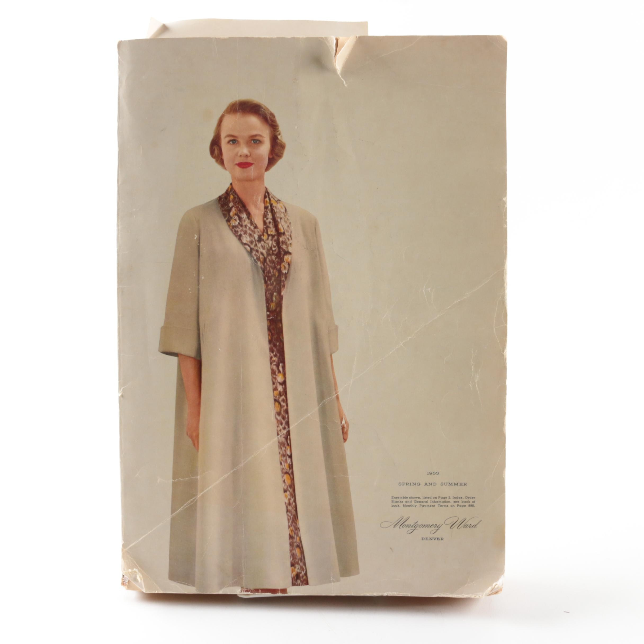 """1955 """"Montgomery Ward"""" Catalog with Vintage Advertisements"""