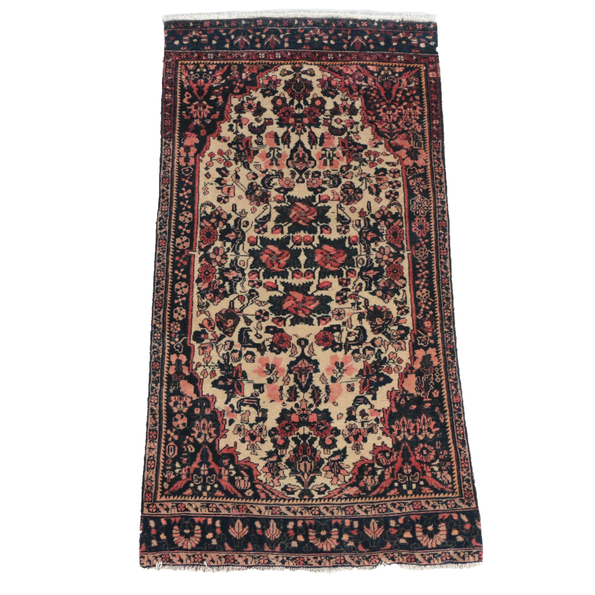 Hand-Knotted Karabagh-Style Wool Area Rug