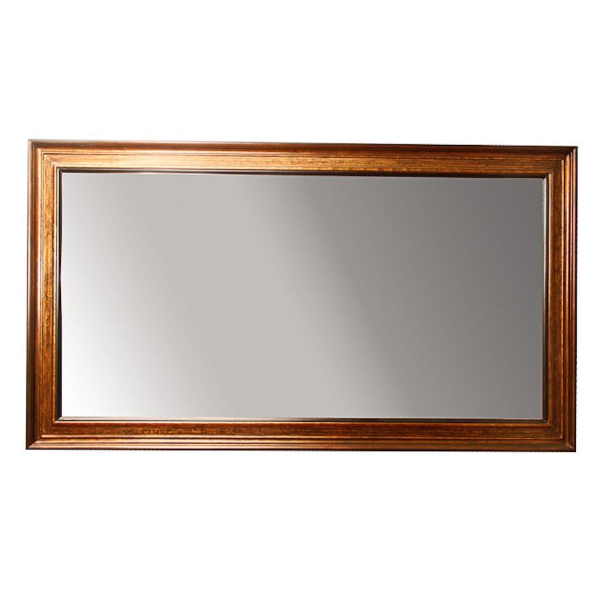 Large Wood Framed Wall Mirror : EBTH