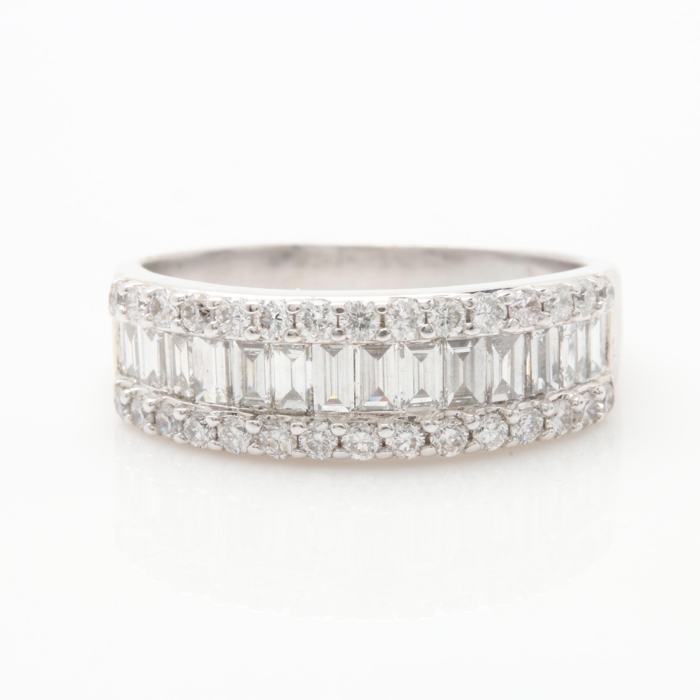 18K White Gold 1.03 CTW Diamond Ring