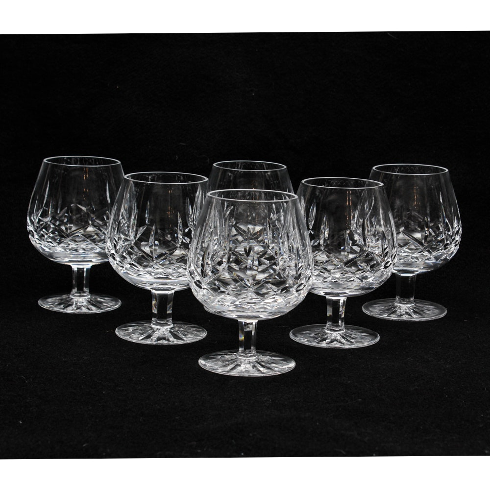 """Waterford Crystal """"Lismore"""" Snifters"""