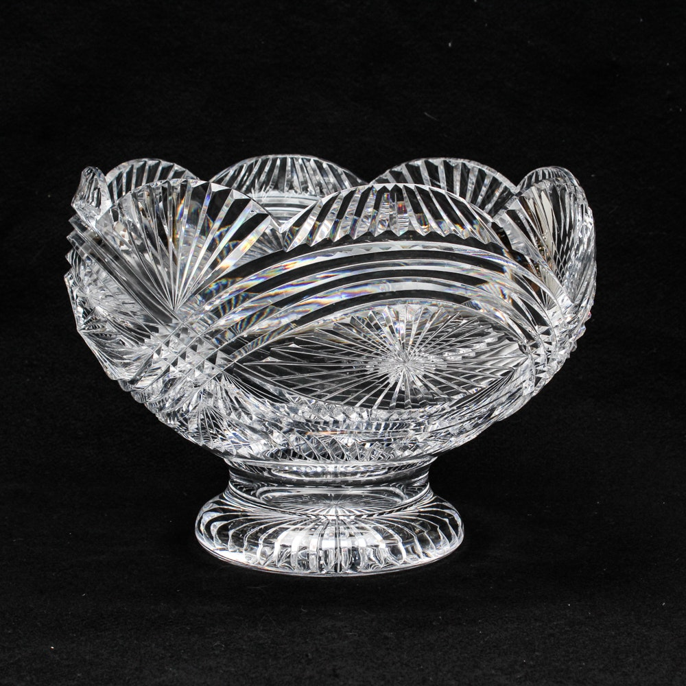 """Waterford Crystal """"Master Cutter"""" Collection Artisan Signed Punch Bowl"""