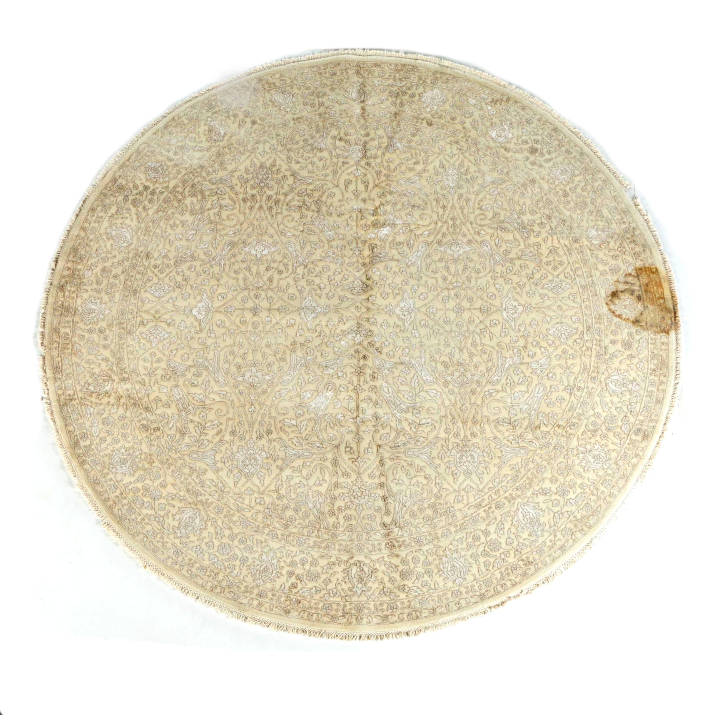 Handmade Silk and Wool Tufenkian Round Rug