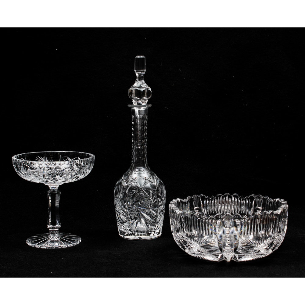 Vintage Cut Crystal Items