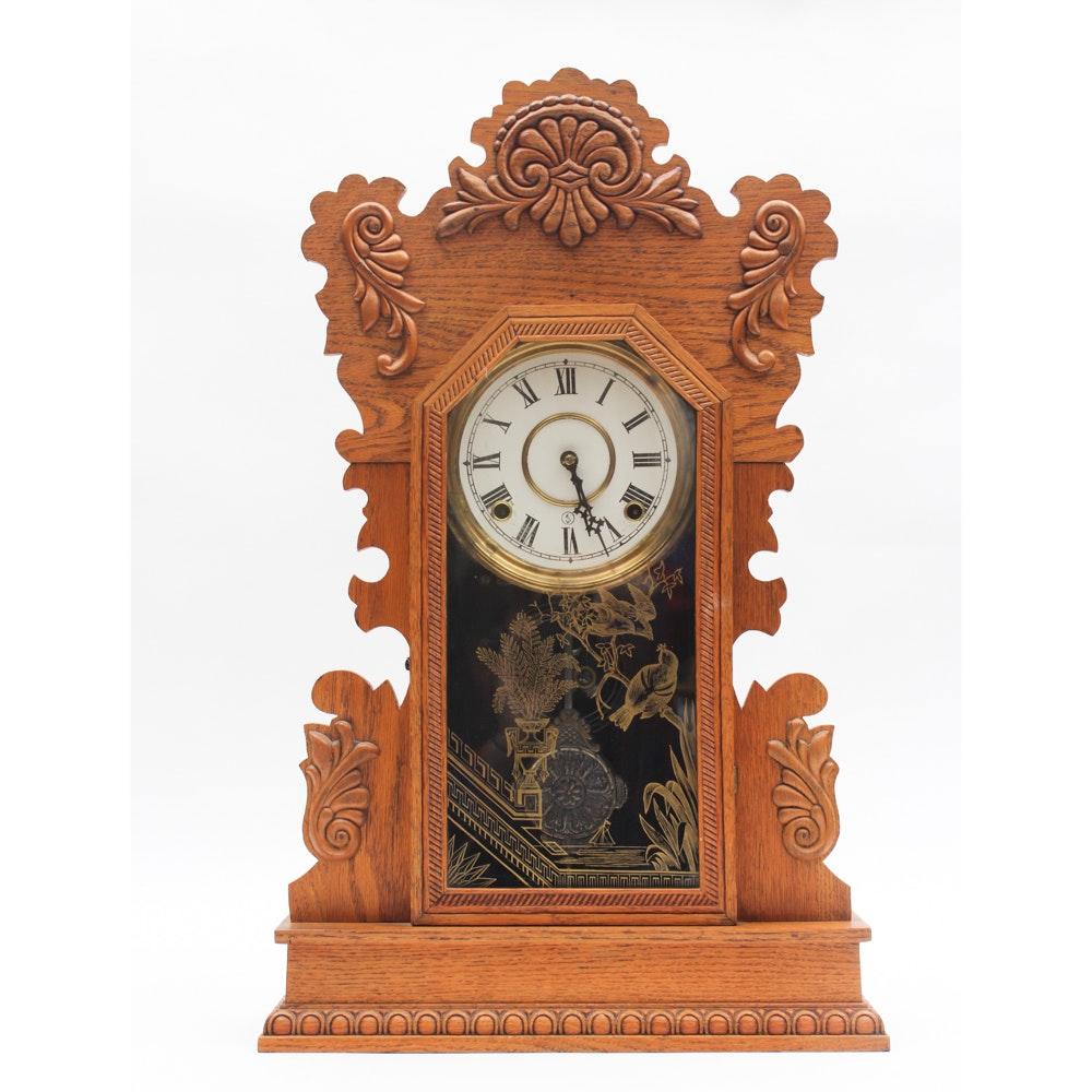 Antique Gilbert Clock Co. Citizen No. 18 Gingerbread Mantle Clock