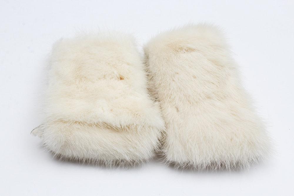 White Mink Cuffs
